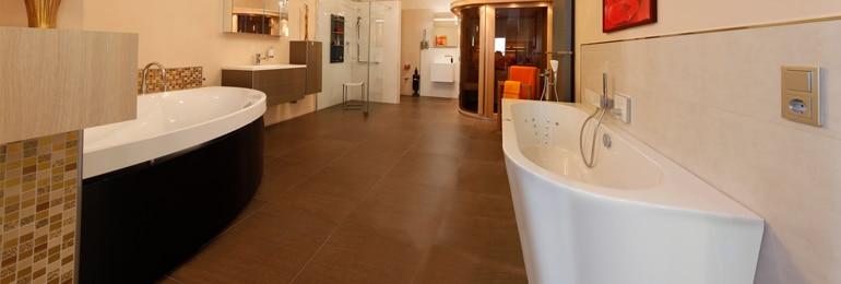 Badgestaltung mit integrierter Sauna